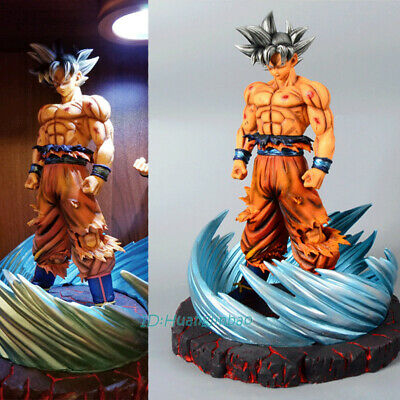 Dragon Ball Son Goku Painted Figurine Model Ultra Instinct With Stand In Stock