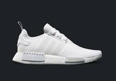 042ac0c9a48ad ADIDAS NMD R1 Triple White Mesh Size 12. S79166 PK Yeezy Ultra boost ...
