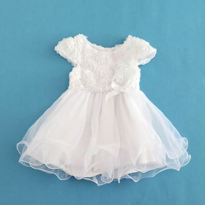 Baby Girls Christening Gown Baptism Gown Lace Dresses Clothes Outfit 0-24mth