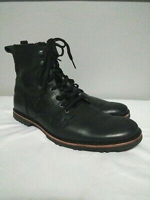 8ca0683b0e6c70 TIMBERLAND KENDRICK SIDE-ZIP Lace Boots Black Leather A1N19 Men Size ...