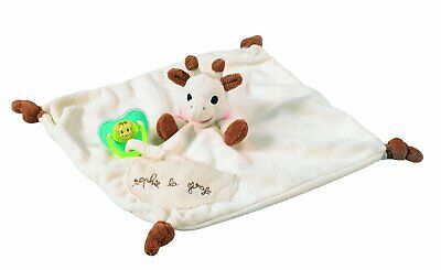 Sophie The Giraffe Comforter with Soother Holder Blankie with Soother Holder