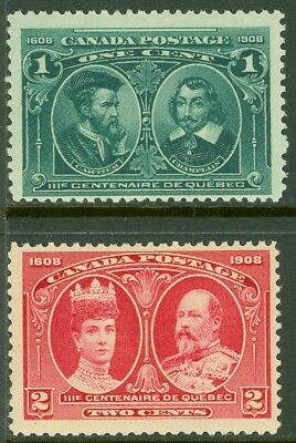 EDW1949SELL : CANADA Scott #97-98 Mint Never Hinged. Fresh. Catalog $137.50.