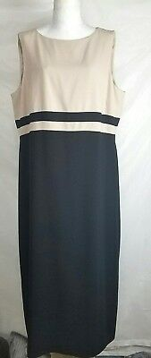 2bd64e81cb80c Talbots Dress Size 20 New Womens black and neutral striped career sleeveless