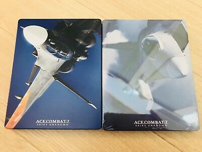 ACE COMBAT 7 SKIES UNKNOWN Limited Steel book 2 types of set Japan PlayStation 4