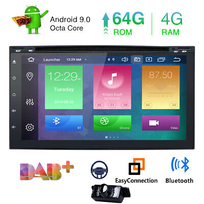 Android 8.0 4GB RAM Car Stereo Radio 2Din GPS Navigation Touch Octa Core Camera