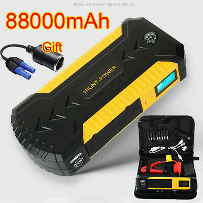 Waterproof 12V 88000mah Car Jump Starter Booster 4USB Charger Battery Power Bank