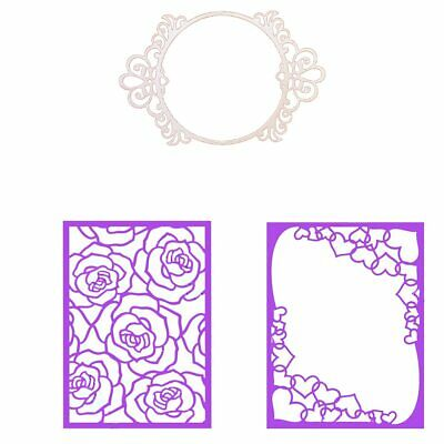 Rectangle Circle Frame Cutting Dies Stencil Scrapbook Album Embossing Crafts DIY