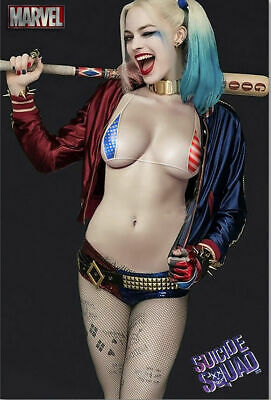 Suicide Squad Harley Quinn Movie Art Silk Poster 8x12