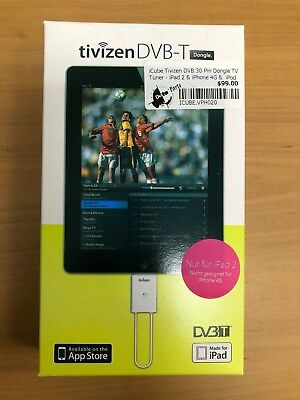 iCube Tivizen DVB 30 Pin Dongle TV Tuner - iPad 2 & iPhone 4G &  iPod Touch