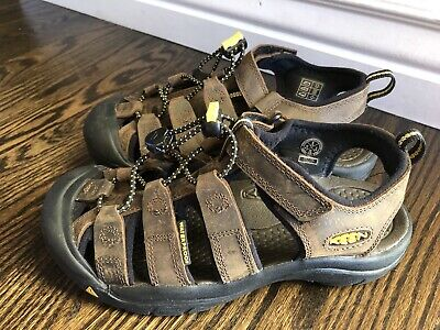 fe414605b0bf Keen Newport H2 Big Kids Sandals Size 3 Brown Leather Slip On Water Shoes