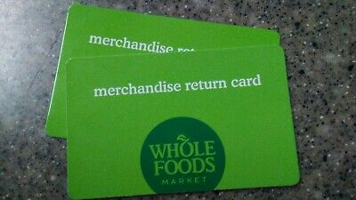 $128.36 Whole Foods gift card/ merchandise return card