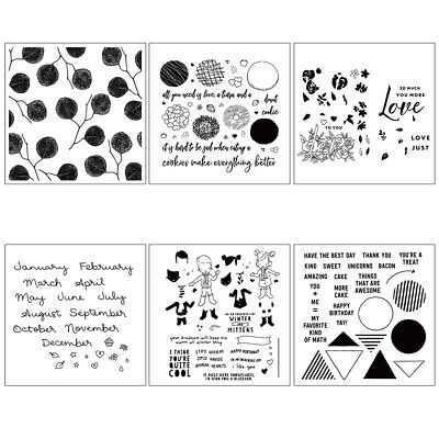 Cookies DIY Silicone Clear Stamp Cling Seal Scrapbook Embossing Album Decor New