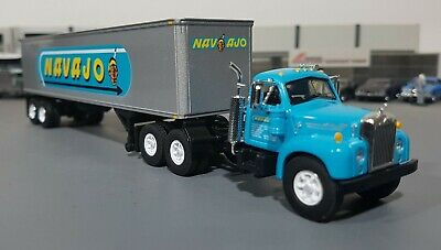 1/64 Vintage B-Model Mack Najavo And Trailer Diecast Made By First Gear In Box