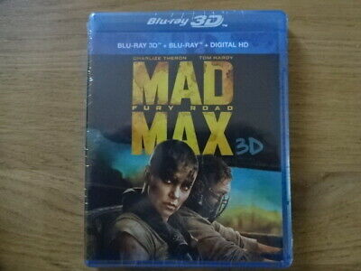 Mad Max Fury Road Blu ray 3D + 2D + DVD neuf sous blister