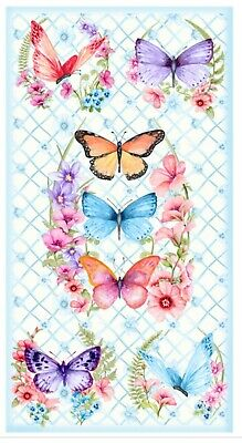 Butterfly Fantasies Quilt Panel * So Pretty * New * Free Post *