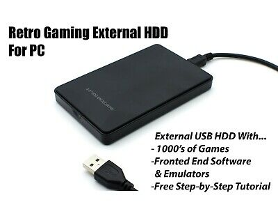 RETRO Games External Hard drive 160 GB - 1 TB HDD for Windows PC / Laptop