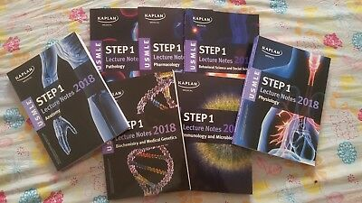 BRAND NEW USMLE Step 1 2018 Lecture Notes By Kaplan(7 Book Set)