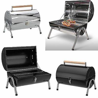 BBQ Barbecue Charcoal Grill Kettle Portable Small Party Barrel Camping Garden
