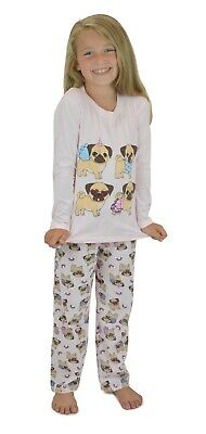 Girls Pug Pyjamas PJ's Twosie Pajama Set - Pajamas Sets