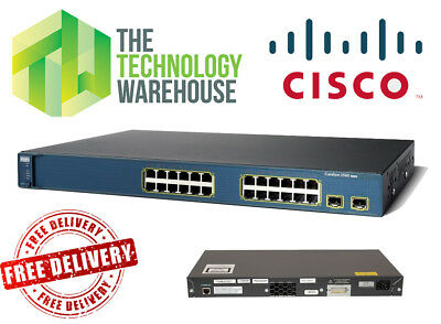 CISCO CATALYST 3560 24 Port Managed Switch - Fully Functional -  Ws-C3560-24Ts-S