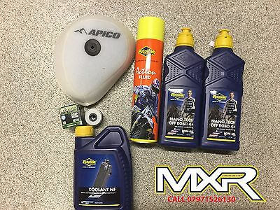 HONDA CRF 450 X SERVICE KIT 2x OIL NANO TECH 10W-40 +  FILTER + COOLANT