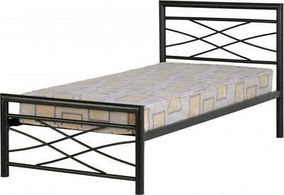 Kelly 3ft Single Metal Bed Frame in Black Free Delivery