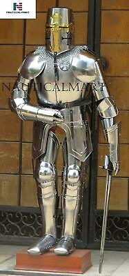 Suit of Armor Templar Medieval Knight Crusader Armour Custom Chainmail