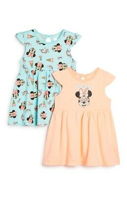 Primark Disney Girls Baby Pk 2 Minnie Mouse/Unicorn Summer Dresses Bnwt All Ages