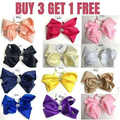 """6"""" Bow Hair inch knot Clips Girls Baby Kids Elastic Bobbles School Quality Bows"""