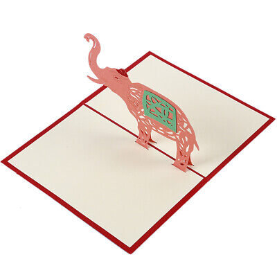 3D Elephant Cards All Occasions Anniversary Greeting Cards Handmade Gift Z