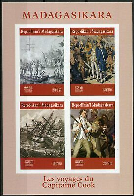 Madagascar 2019 MNH Captain James Cook 4v IMPF MS Exploration Boats Ships Stamps