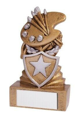 Academic Awards Resin Mini Shield Art Trophies Artist Trophy 95mm FREE Engraving
