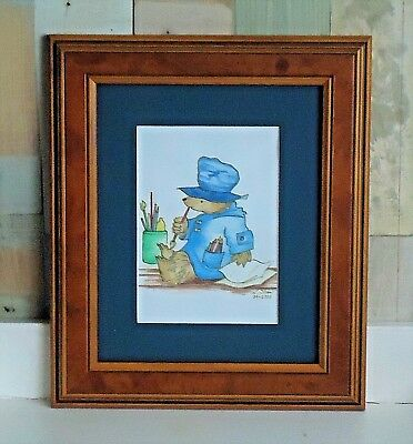Lovely Framed Paddington Bear Picture *Original Pencil Signed & Dated 2000
