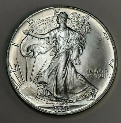 1991 American Eagle Silver Dollar BU Discounted for Condition
