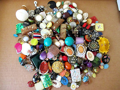 Vintage Craft Buttons & Disks Mixed Colors Shapes & Sizes Lot of 100+