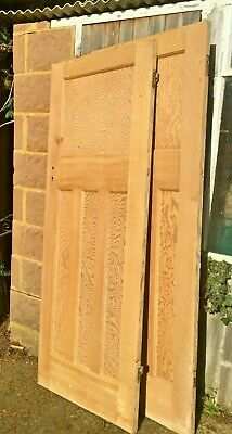 Original 1930s 1 over 3 panel doors, stripped and lightly sanded  (2 available)