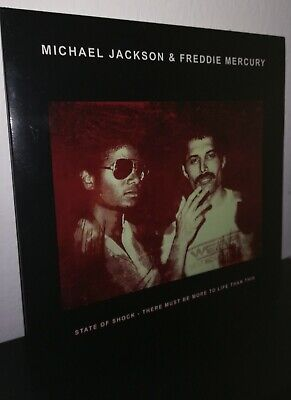 """Michael Jackson & Freddy Mercury 'State of Shock' LP 10"""" Picture Queen 100 COPY"""