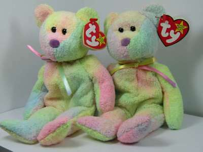 Mwmt 1999 Lot Of Two (2) Beanie Baby Groovy The Bear  4256 By af2f5773e443