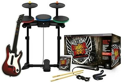 NEW SEALED PS3 Guitar Hero Warriors of Rock Band Bundle Drums Guitar Game & Mic