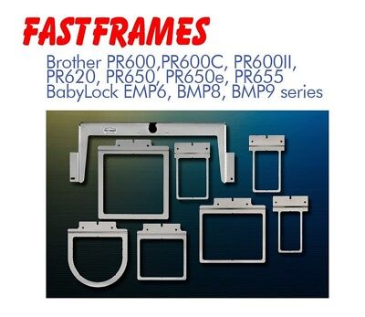 Fast Frames for Brother Babylock PR 650 670 ALL 6 NEEDLE Embroidery Hoop 7-N-1