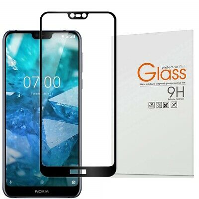 5D Full Cover Coverage Nokia 7.1 Tempered Glass LCD Screen Protector Film Guard