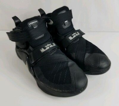 new arrival 36697 b380b Nike LeBron James Soldier IX Black Silver Youth Shoes 776471-001 Size 4Y