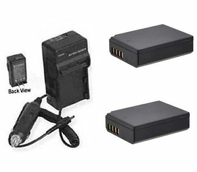 2X Batteries + Charger for Canon EOS REBEL T7, EOS 1500D, EOS 2000D, Kiss X90,