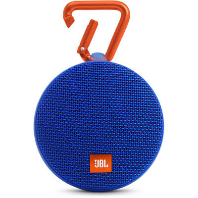 JBL Clip 2 Portable Bluetooth Speaker - Waterproof - Blue JBLCLIP2BLUAM