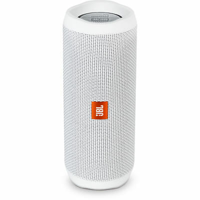 JBL Flip 4 Waterproof Portable Bluetooth Speaker - White JBLFLIP4WHTAM