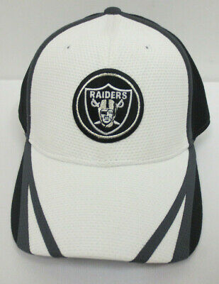 35834fd508b Oakland Raiders Hat Cap New Era 39Thirty Flex Fit Stretch Mens Nfl Football
