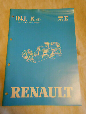 manuel de réparation RENAULT injection essence type BOSCH K jetronic