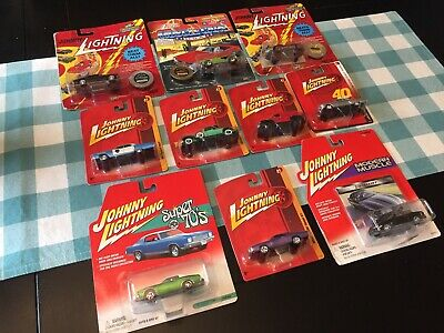 Ref#47 Johnny Lightning Die Cast Car Lot 10 Cars - Vintage  Limited Editions New