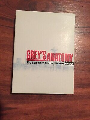 Grey's Anatomy Uncut The Complete Second Season 2 DVD 6-Disc Set. Opened but new