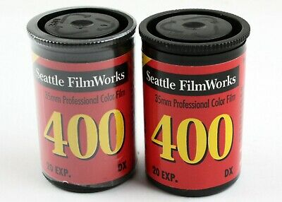 194653 Two Rolls Seattle Film Works 35mm ISO 400 Print Film 20 Exp. *EXPIRED*